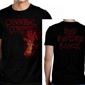Cannibal Corpse Red Before Black T-Shirt L XL NWT